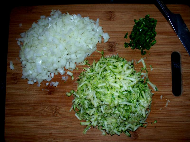 2 chopped vegetables