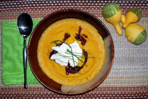 Spicy bn soup w carmelized