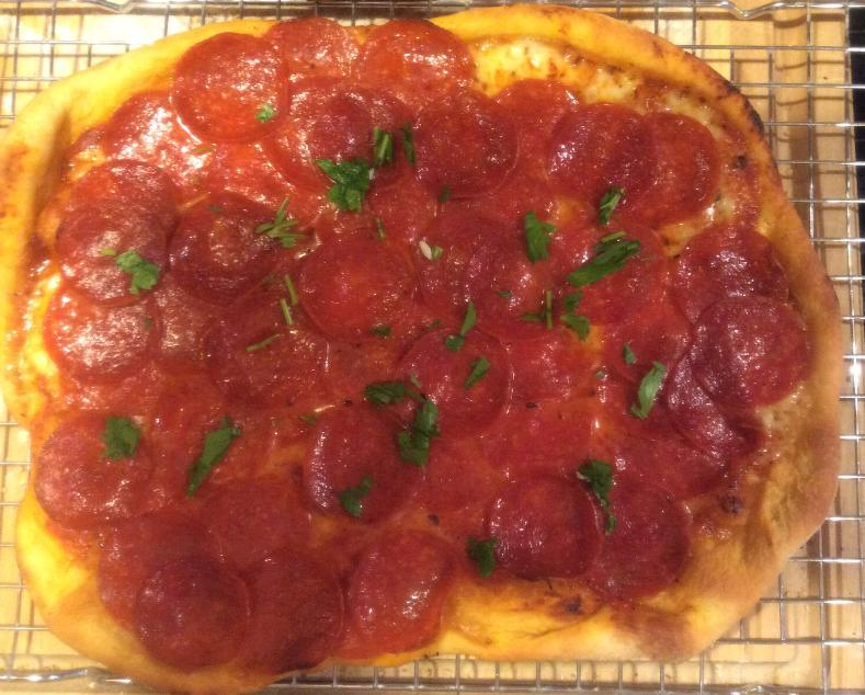 pepperoni out of oven