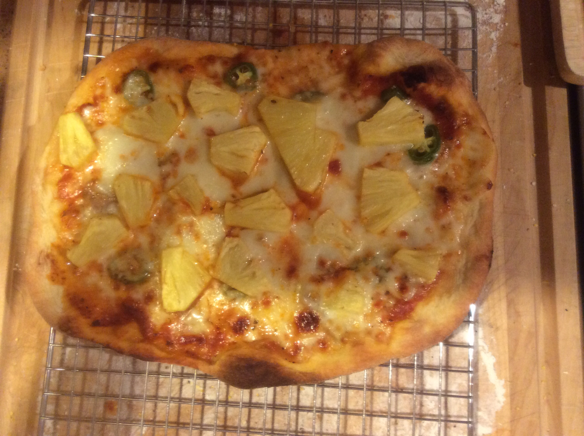 pineapple out of oven